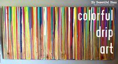 DIY Colorful Drip Art