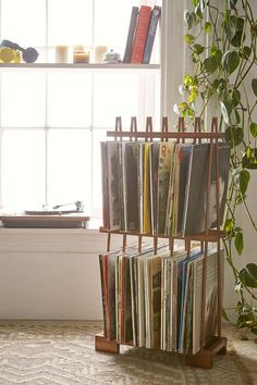 Alexander Vinyl Storage Rack - Urban Outfitters Could work for magazines