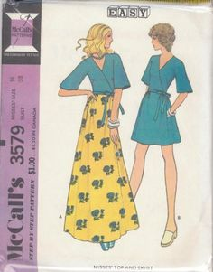 Vintage Top & Skirt Sewing Pattern M3579 Size 16