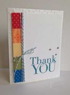 Rainbow of Thanks - Stampin' Up! - Another Thank You Photopolymer Stamp Set
