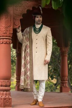PuneetandNidhi presents wide collection of wedding sherwani for men in Noida, Delhi NCR & California. Designer and stylish Royal Sherwani collection. Indian Groom Dress, Wedding Dresses Men Indian, Wedding Dress Men, Mens Ethnic Wear, Mens Kurta Designs, Wedding Sherwani, Groom Outfit, Traditional Outfits, Wedding Designs