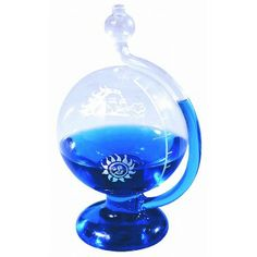 Amazing Weather Ball   Created of Hand-Blown Glass Indicates Weather Conditions Decorative and Functional