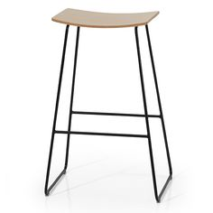 Tao - Bar and Counter stools available in upholstered and non upholstered versions with steel frame in chrome or lacquered finish. Upholstery available in cross, diamond or horizontal stitching at extra charge.