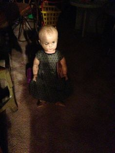 She emerges from the shadows every day at this exact time. | The Creepiest Collection Of Doll Photos Ever Assembled