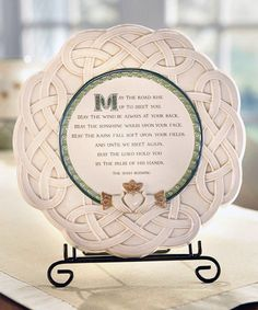 Celtic 'May the Road Rise' Plaque #zulily #zulilyfinds