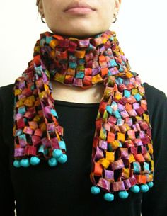 experiments in novel constructions of scarves.