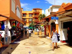 Bazaar at Port of Quintana Roo  in Isla Cozumel, Mexico
