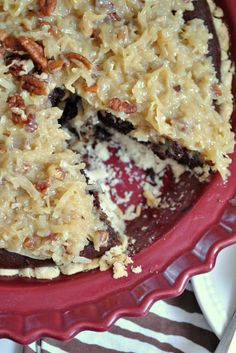 German Chocolate Brownie Pie - does this really need the crust???