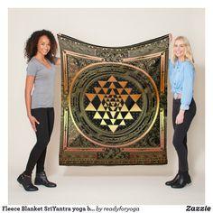 Shop Fleece Blanket SriYantra yoga black gold spirital created by readyforyoga. Flower Of Life Pattern, Yoga Symbols, Bring It To Me, Sri Yantra, Sacred Geometry, Chakra, Wealth, Black Gold, Mandala