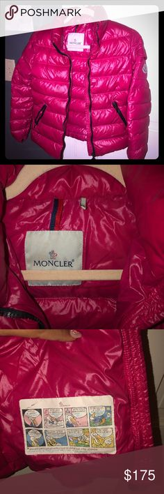 37030059bbc Girls Pink Authentic Moncler Jacket For Sale Sz 10 Girls Pink Authentic  Moncler Jacket For Sale Pre-Loved Size 10 Great Buy Ready to Ship!!