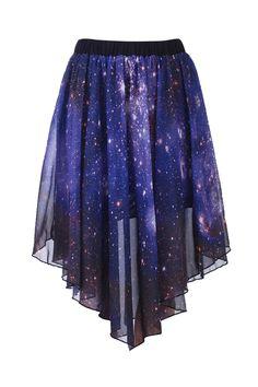Starry Night Irregular Skirt