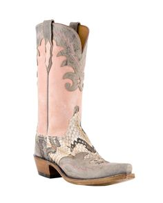 Western Cowboy Boots I Love !!! Lucchese Women's Canebrake Rattlesnake Mad Dog Wingtip Boot