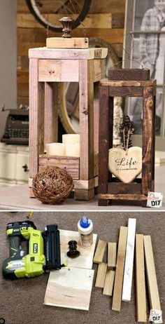 22 Most Simple and Beautiful Reclaimed Wood Christmas Decorations #diywoodworking