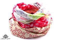 Loopschal Loop pink beige von #Lieblingsmanufaktur: Farbenfrohe Loop Schals, Tücher und mehr auf DaWanda.com