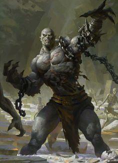 ConceptArt, Moky lin on ArtStation Dark Fantasy Art, Fantasy Artwork, High Fantasy, Fantasy Rpg, Medieval Fantasy, Dark Art, Fantasy Warrior, Fantasy Races, Fantasy Monster