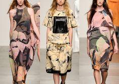 Jeremy Laing S/S 2014-Squeegee'd Pattern - Large Scale Photographic Florals – New York Artist Julia Dault's Art - Fluid Studies – Movement Through Print - Etherea...
