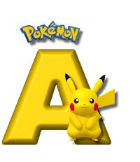 Abecedario de Pikachu de Pokémon. Pikachu Alphabet. Pokemon Gengar, 150 Pokemon, Pokemon Craft, Charmander, Pokemon Cupcakes, Pokemon Birthday Cake, Festa Pokemon Go, Pokemon Party, Pikachu Drawing