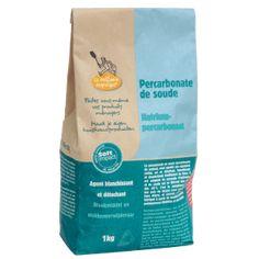 Le percarbonate de soude, également appelé eau oxygénée solide, a des vertues désinfectantes, désodorisantes, détachantes et blanchissantes. Cet agent lavant n'est pas nocif pour l'environnement car il est sans chlore et sans phosphate. Cleaning Supplies, Soap, Coffee, Drinks, Bottle, Couture, Boutique, Soap Nuts, Natural Stain Remover
