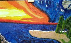 Mi primera pintura  Acrílico sobre tela 50x35  Autor Leonrado Muñiz Disponible