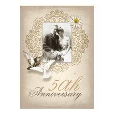 fancy wedding anniversary invitation