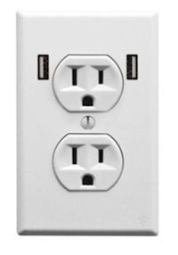 The U-Socket from FastMac features built-in USB ports that allow homeowners to recharge their smartphones, tablets, and laptops without using the AC power plug-ins, increasing the functionality of the outlet. The two USB ports provide 12W of charging power to quickly re-charge most devices, and they automatically shut off power supply when a plug is removed, eliminating wasted energy.