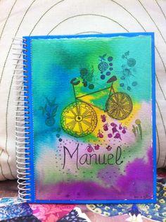 Cuaderno ilustrado para Manuel, un héroe que llegó hace unos días, sus padres podrán escribir sus quehaceres.