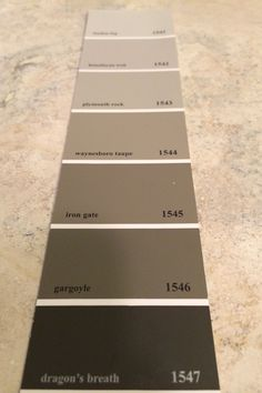 Benjamin Moore / Dragon's breath at the bottom of the palette for the interior doors, or the bean brown