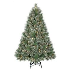 4.5ft Pre-Lit Artificial Christmas Tree Virginia Pine - Clear Lights