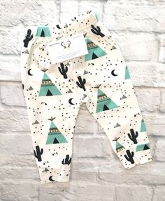Cactus- Tee Pee Harem Pants, Baby Baby Shower Gift, Baby Boy Cactus Harem Pants, Baby Boy Pants, Harem Pants - BellaPiccoli Tap the link now to find the hottest products for your baby!