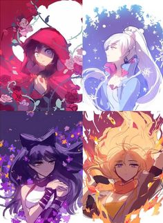 Rough sketches of RWBY illustrations. This is beautiful! @einlee