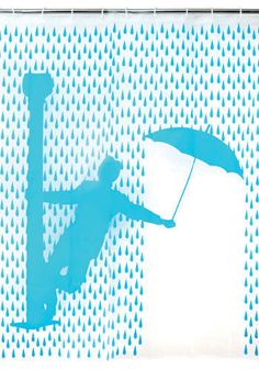 rideau de douche - singing in the rain