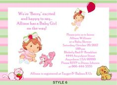 Strawberry Shortcake Baby Shower Invitations | eBay