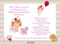 Strawberry Shortcake Baby Shower Invitations | eBay