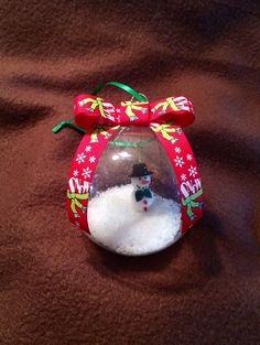 Handmade Let it Snow Snowman Christmas ornament by kuteKrazyKreations