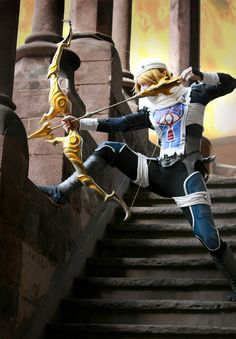 """theeternalouroboros: """" I imagine Princess Zelda would not sit quietly while her castle was overrun by baddies. She would shoot them, duh. Sheik Cosplay, Cosplay Anime, The Legend Of Zelda, Amazing Cosplay, Best Cosplay, Cool Cosplay, Link Cosplay, Cosplay Outfits, Cosplay Costumes"""