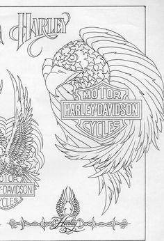 motorcycle blueprint images | 03a 697x1024 Harley Davidson Motorcycle Eagle Tattoo with Blueprint
