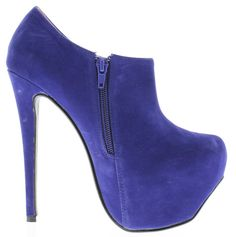 Be bold and rock these #blue #pumps with a neon yellow blazer and a black and white stripes top for a night out!