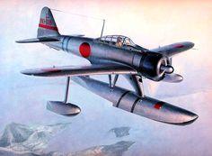 Nakajima A6M2-N 'Rufe' by Shigeo Koike