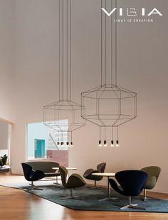 LED pendant #lamp WIREFLOW by Vibia | #design Arik Levy @VIBIA
