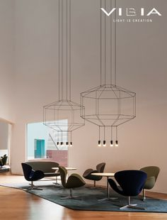 LED pendant #lamp WIREFLOW by Vibia | #design Arik Levy @VIBIA