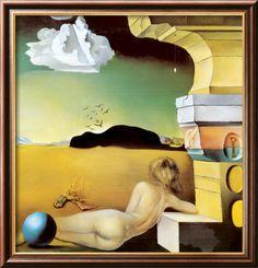 Salvador Dali - Desnudo en la llanura de rosas (Mural para Helena Rubenstein)