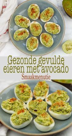 Gevulde eieren met avocado Stuffed eggs with avocado Healthy Eating Habits, Healthy Snacks, Healthy Recipes, Keto Snacks, Carb Free, Benefits Of Eating Avocado, Egg And Grapefruit Diet, Real Food Recipes, Cooking Recipes