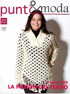 Album Archive - Punto y Moda 22 Crochet Shirt, Crochet Jacket, Crochet Cardigan, Knit Crochet, Crochet Tattoo, Tunic Sweater, Knitting Magazine, Crochet Magazine, Crochet Books