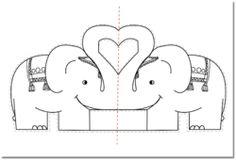 Carte Pop Up - Les animaux amoureux - Saint valentin - Valentine's day - animals in love