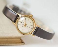 Tiny woman's watch Glory gold plated feminine by SovietEra on Etsy