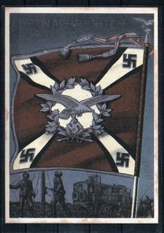 Propagandakarte Drittes Reich - Karte Nummer 18 - Luftnachrichten