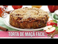 TORTA DE MAÇÃ SUPER FÁCIL SEM FARINHA FIT - YouTube Tortas Low Carb, Quiche, Magic Recipe, Healthy Cake, Meatloaf, Low Carb Recipes, Banana Bread, Lactose, Food And Drink
