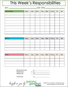 This Printable Savings Chart For Kids Will Visually Help Kids Set