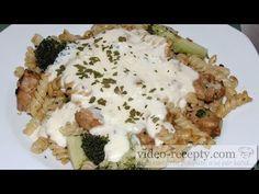 Těstoviny s kuřecím masem a sýrovou omáčkou - videorecept - YouTube Gnocchi, Chicken, Meat, Youtube, Food, Essen, Meals, Youtubers, Yemek