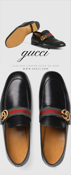 377610e29d1 Gucci Leather loafer with GG Web